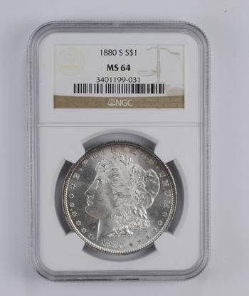 *** MS64 1880-S Morgan Silver Dollar - Graded NGC