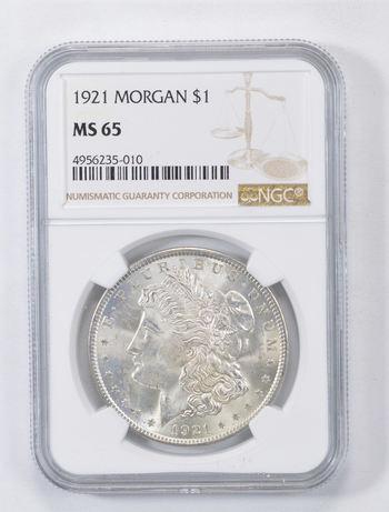 *** MS65 1921 Morgan Silver Dollar - Graded NGC