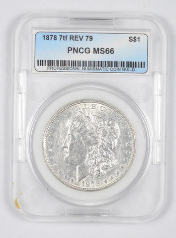 *** MS66 1878 7TF Rev 79 Morgan Silver Dollar - Graded PNCG