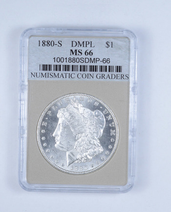 *** MS66 1880-S Morgan Silver Dollar - DMPL - Graded NCG