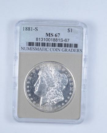 *** MS67 1881-S Morgan Silver Dollar - Graded NCG