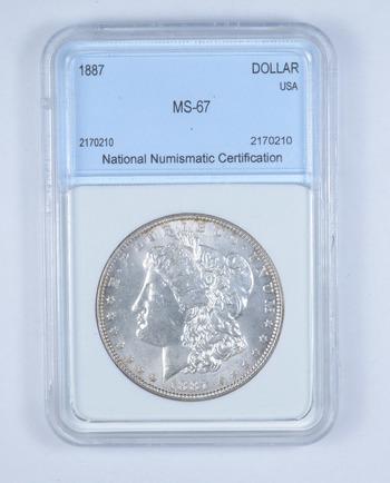*** MS67 1887 Morgan Silver Dollar - Graded NNC