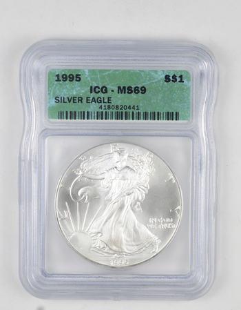 *** MS69 1995 American Silver Eagle - Graded ICG