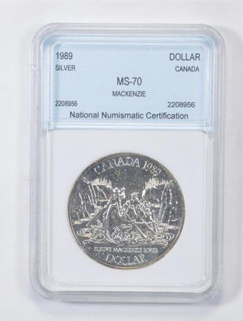 *** MS70 1989 Canada Silver Dollar - Graded NNC