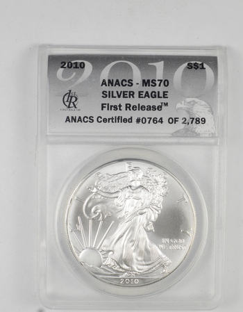 *** MS70 2010 American Silver Eagle - First Releases - Graded ANACS