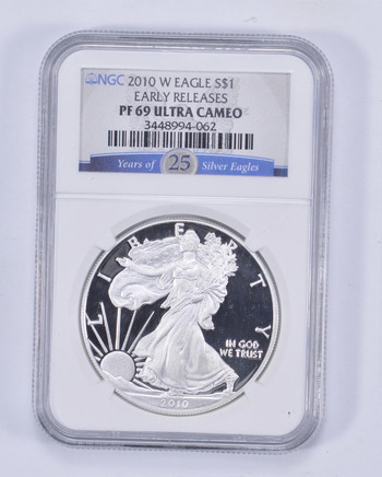 *** PF69 UCAM 2010-W American Silver Eagle - Early Releases - Graded NGC