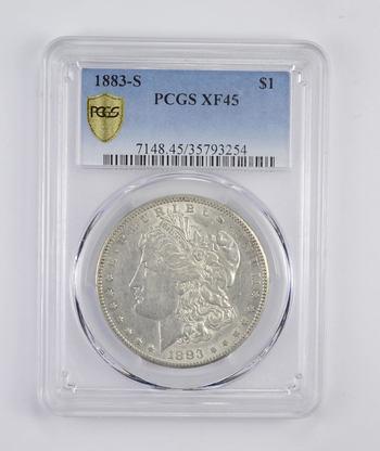 *** XF45 1883-S Morgan Silver Dollar - Graded PCGS