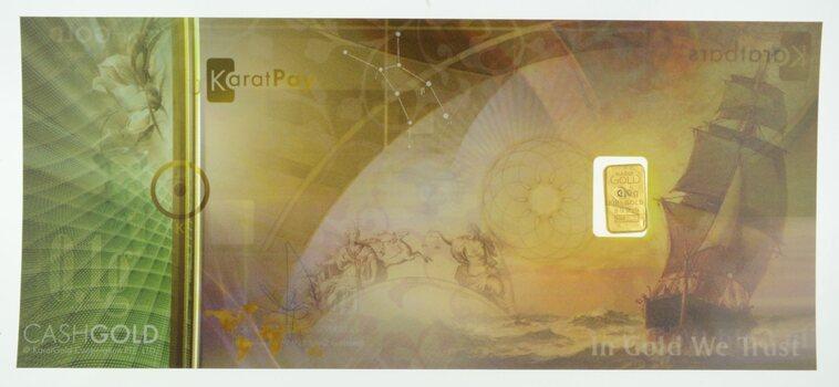 0.1 Gram 999.9 Fine Gold Bar - KaratPay - Cash Gold