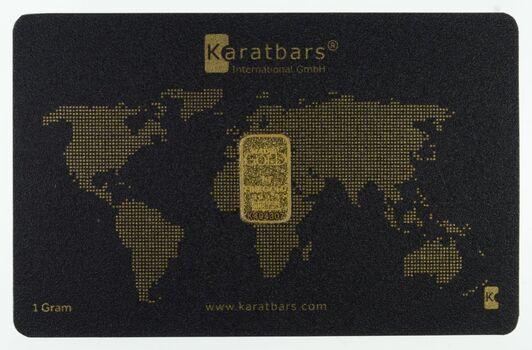 1 Gram 999.9 Fine Gold Bar - Karatbars - Nadir Gold