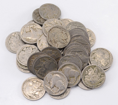 1 Roll (40 Coins) of NO Date Buffalo Nickels (1913-38 Era)