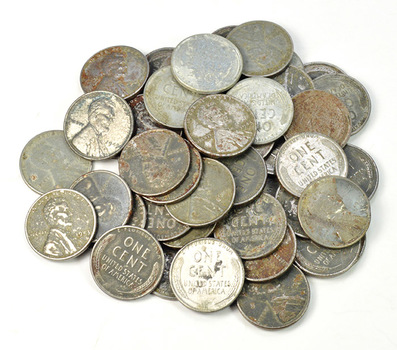 1 Roll (50 Coins) 1943 Steel Cents - Only Year Made of Steel