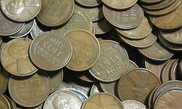 1 Troy POUND of MIXED United States Wheat Cents