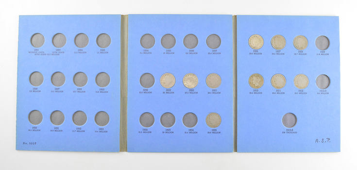 10 Coins Near Complete 1883-1912 Liberty V Nickel Set - US Collection Lot