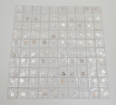 (10) Sheet of 10 Disney Character 1/20 Oz .999 Fine Silver Round