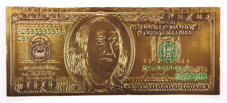 $100 Benjamin Franklin 24k Gold Foil Note - Funny Money