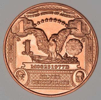 $1.00 Note - Currency Tribute Series - 1 Oz .999 Fine Copper Round