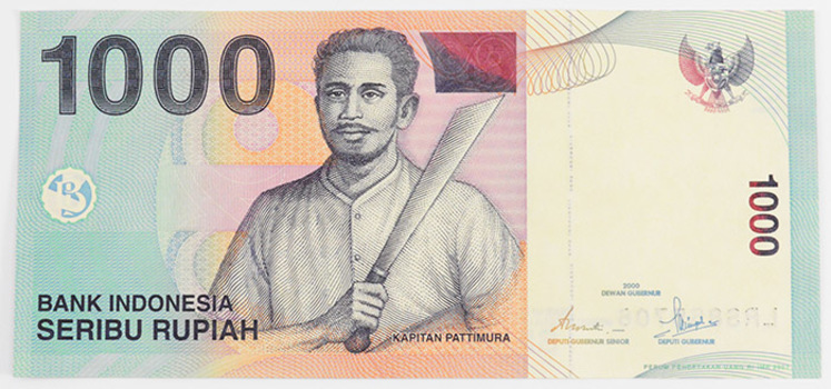 1,000 Indonesian Rupiah Note - Great way to invest in Currency Foreign Exchange