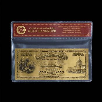 $1000.00 First National Bank of Salem - 1875 - US Replica Note