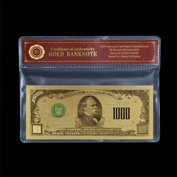 $1000.00 United States Large Denomination - Replica Bank Note