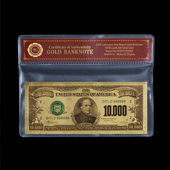 $10,000.00 United States Bank Note - Replica - Nicely Packaged
