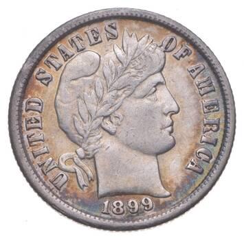 10c Crisp - 1899 Barber Dime - Stunning Detail! - Look it Up!