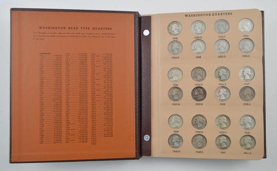 138 Coins - Washington Quarters 1932-1994 - Partial Set