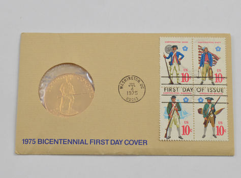 1776-1976 BiCentennial American Revolution US Mint Coin & Stamp Cover