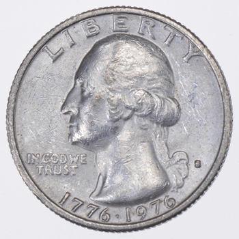 1776-1976 Washington Silver Bicentennial Quarter - 40% Silver - San Francisco Minted