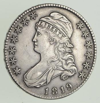 1819 Capped Bust Half Dollar - Sharp