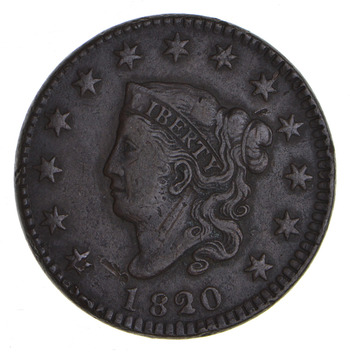1820 Matron Head Large Cent - Circulated