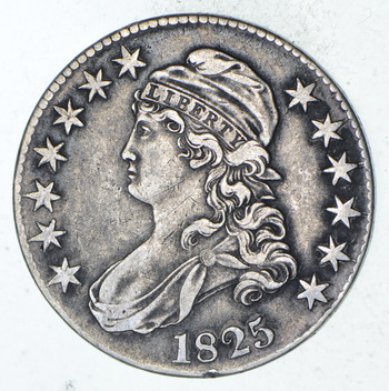 1825 Capped Bust Half Dollar - Circulated