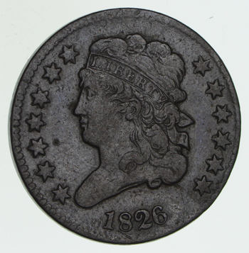 1826 Classic Head Half Cent - Circulated
