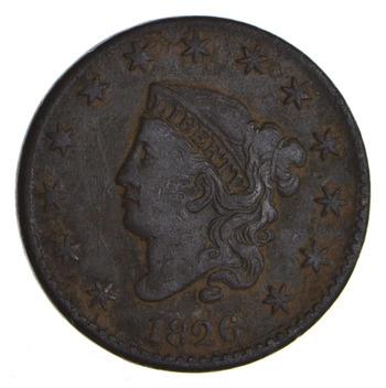 1826 Matron Head Large Cent - Circulated
