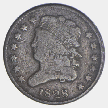 1828 Classic Head Half Cent - Circulated