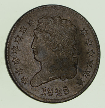 1828 Classic Head Half Cent - Circulated