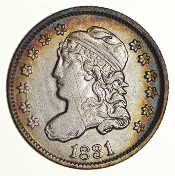 1831 Capped Bust Half Dime LM-2 - Circulated