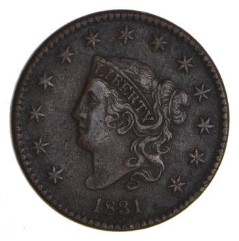 1831 Matron Head Large Cent - Sharp