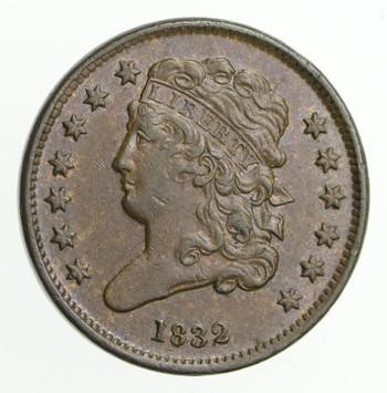 1832 Classic Head Half Cent
