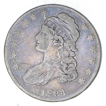 1834 Capped Bust Half Dollar - Circulated