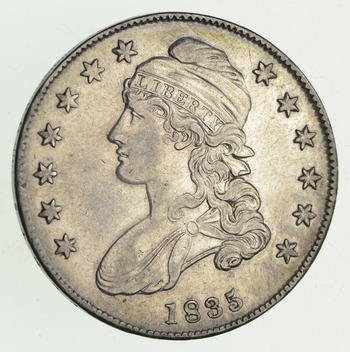 1835 Capped Bust Half Dollar - Sharp