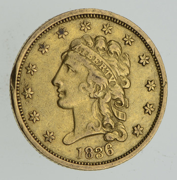 1836 $2.50 Classic Head Gold Quarter Eagle - Circulated