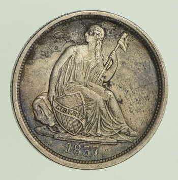 1837 Seated Liberty Dime - Circulated