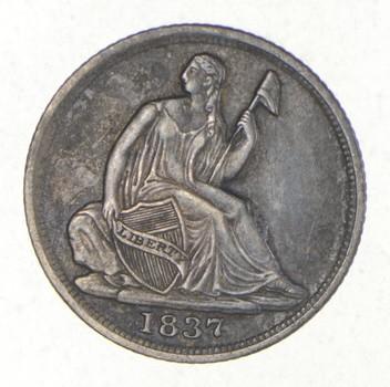 1837 Seated Liberty Half Dime