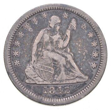 1842-O Seated Liberty Quarter Small O