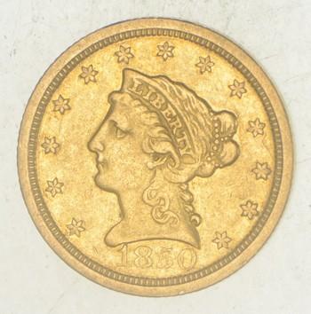 1850-O $2.50 Liberty Head Gold Quarter Eagle