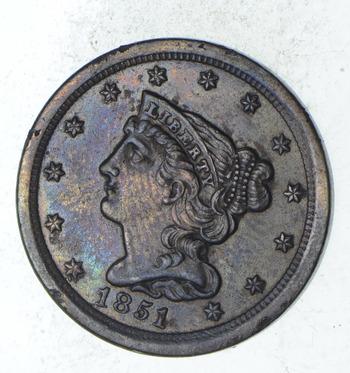 1851 Braided Hair Half Cent - Choice