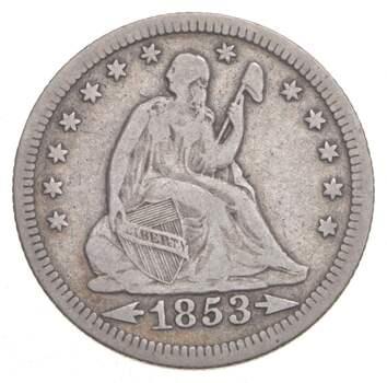 1853 Seated Liberty Quarter