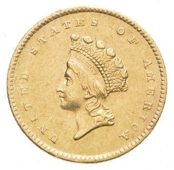 1854 $1.00 Indian Princess Head Gold Dollar