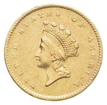 1854 $1.00 Indian Princess Head Gold Dollar