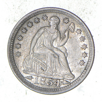 1854 Seated Liberty Half Dime - Choice